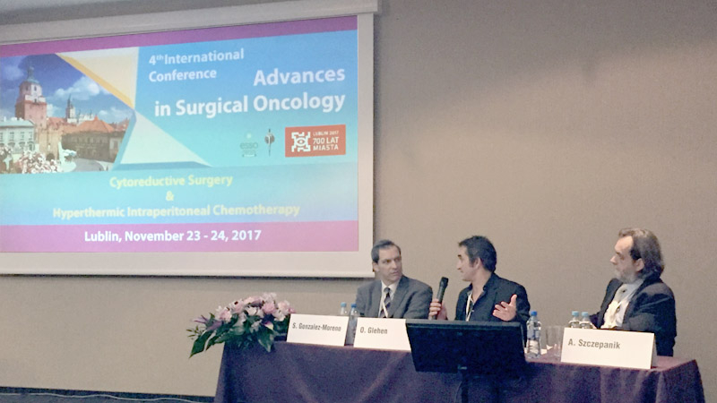 konferencja Advances in Surgical Oncology: HIPEC and cytoreductive surgery w Lublinie, listopad 2017