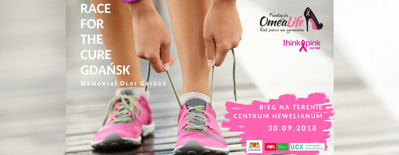 bieg charytatywny - Race for the Cure - plakat